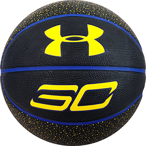 Under Armour Steph Curry Player Basketball, Blue/Black, Mini Size 3