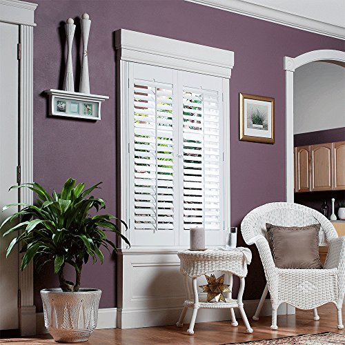 Interior shutter kit 2 1 4 louver plantation style paint import it all - Plantation shutters kits ...