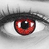 Lentillas de color rojo negro Rojo Demon 1 par. Cómodas y perfectas para carnaval de Halloween, cosplay de anime…