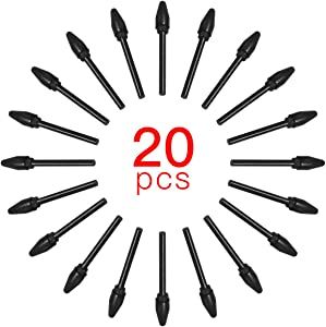 Aibecy 20pcs Replacement Nibs Pen Tips Compatible with All BOSTO Graphic Monitor Drawing Tablet Stylus