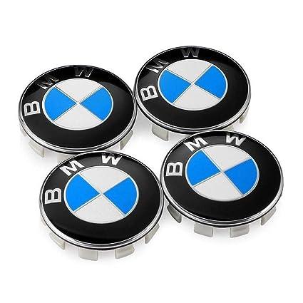 18d17408de8 Amazon.com  Enseng Set of 4 - BMW Wheel Center Caps Emblem