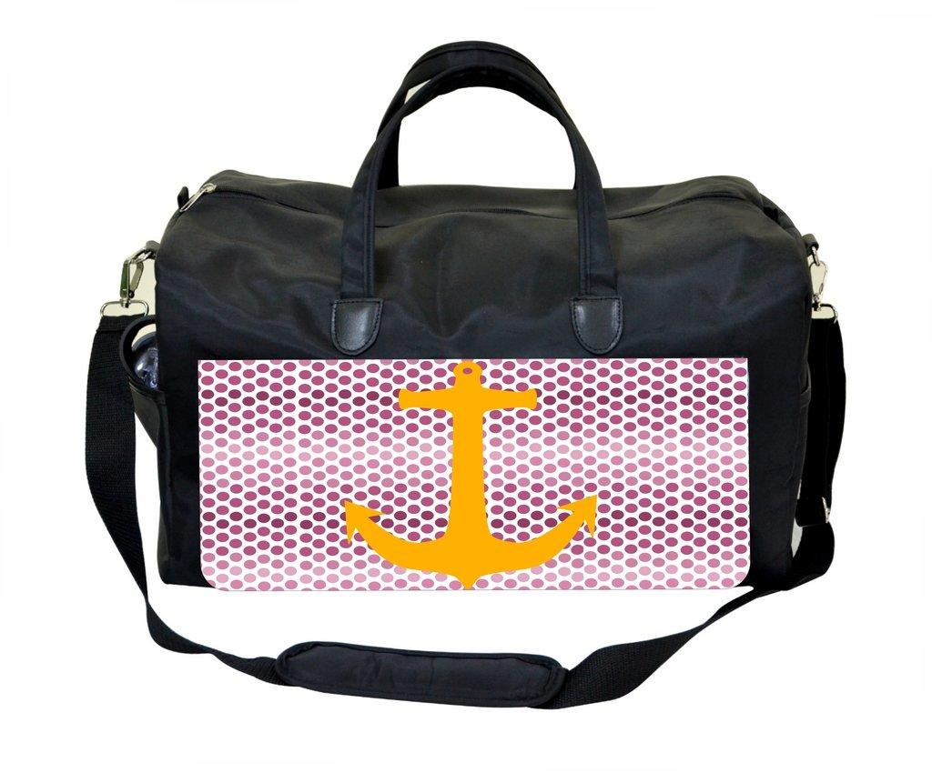 Mustard Anchor on Purple Polka Dots Therapist Bag