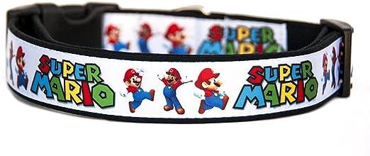 Super Mario Bros Collar Perro Hecho a Mano Talla M sin Correa Dog Collar Handmade: Amazon.es: Productos para mascotas