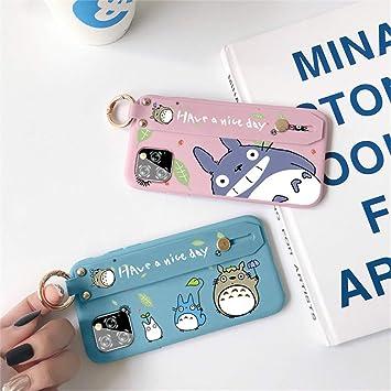 Estuche Totoro de 2 PCS para iPhone 11 Pro MAX 6.5, Phenix-Color 3D Funda Protectora de Silicona Suave y Suave con Bolsillo y Collar para iPhone 11 Pro MAX 6.5