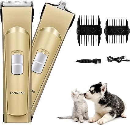 LANGSTAR - Cortapelos eléctrico para Mascotas, cortapelos ...