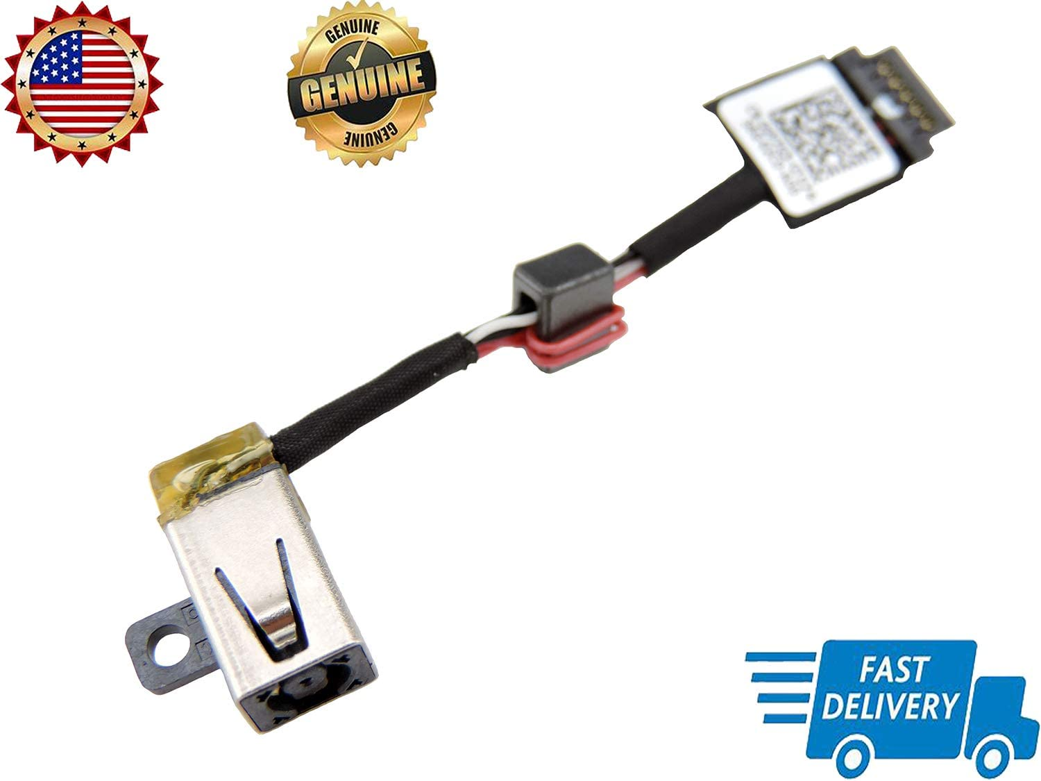 P//N: 0P7G3 CN-00P7G3 2015 13 9343 9350 9350-80 computerparts2016 Original New Ac Dc in Power Jack Cable Harness Connector Socket Replacement for Dell XPS