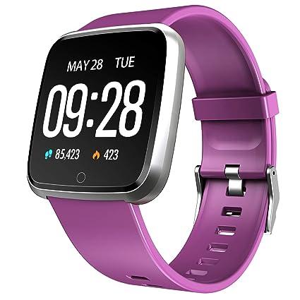 Semaco Montre Connectée Femmes Homme Smartwatch Etanche IP67 Bracelet Connecté Cardio Podometre Enfant Smart Watch Sport Fitness Tracker dActivité ...