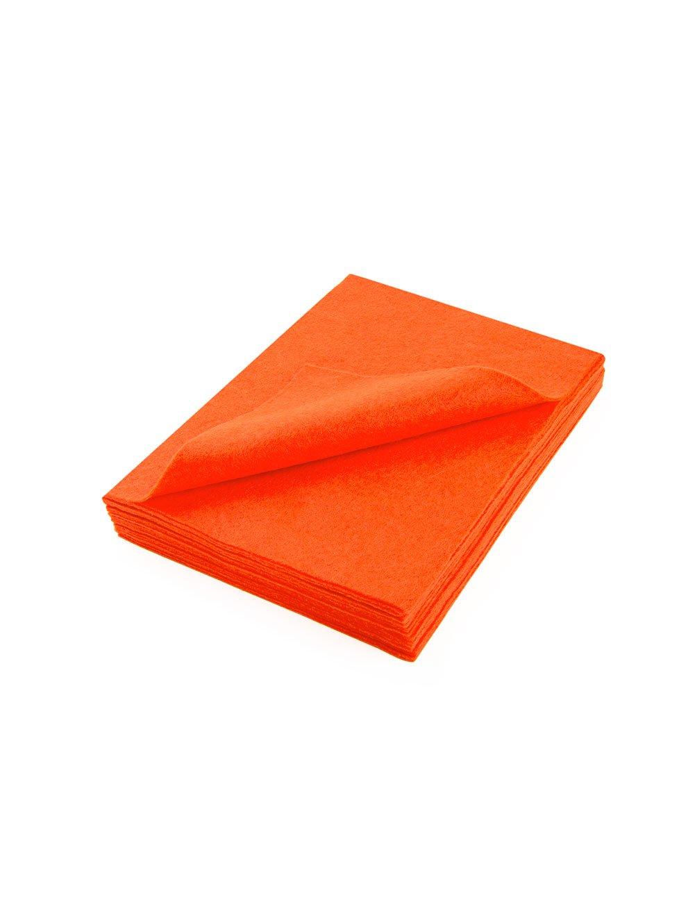 """Acrylic Felt Sheet 9"""" X 12"""": 25 PCS, Neon Orange The Felt Store"""