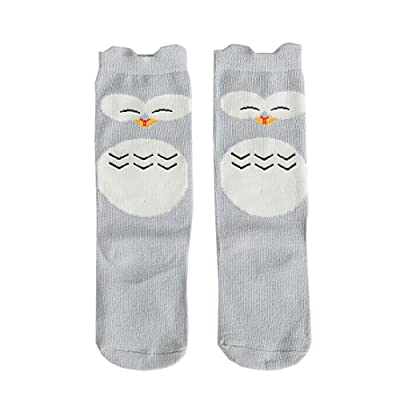 e5d3bfbefad Sock s Fairy Tale World Cat Totoro and Owl Pattern Baby Knee High Stockings  Tube Socks for Kids (1-3 Years