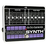 Electro Harmonix Micro Synthesizer Pedal for Electric Guitar, Silver