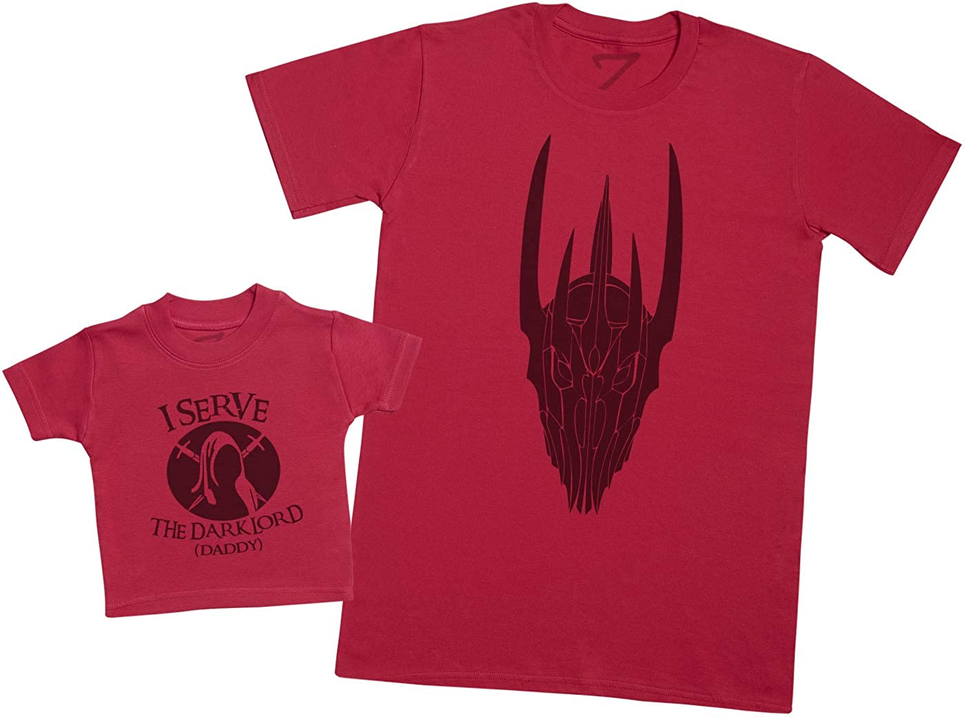 I Serve The Dark Lord Daddy Mens T Shirt /& Baby T-Shirt Matching Father Baby Gift Set