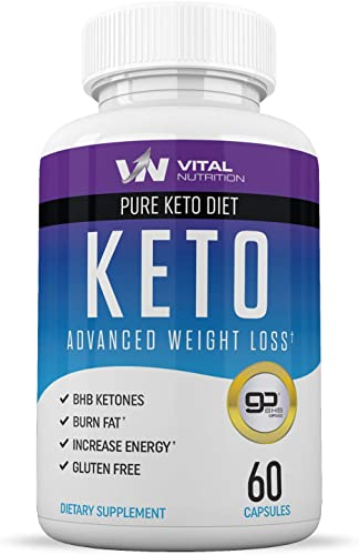 Pure Keto Diet Pills – Ketosis Supplement to Burn Fat Fast – Ketogenic Carb Blocker – Best Keto Diet Pills for Women and Men – Helps Boost Energy Metabolism – 60 Capsules