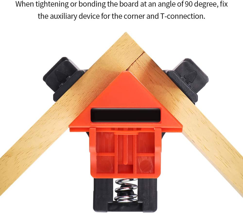 TTAototech Right Angle Clamp Fixing Clips Picture Frame Corner Clamp Woodworking Hand Tool Angle Clamps Pipe Clamp 4pcs for Woodworking Cabinet and Furniture Repairing Connection