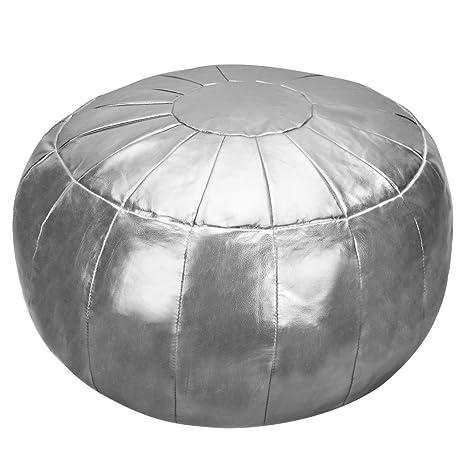 Amazon Rotot PoufOttoman Faux Leather Pouffe Cushion Round Classy Pouf Bean Bag Chairs