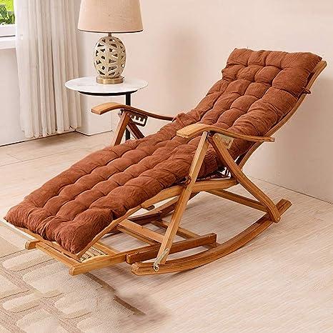Amazon.com: Mecedora de madera, silla mecedora reclinable de ...