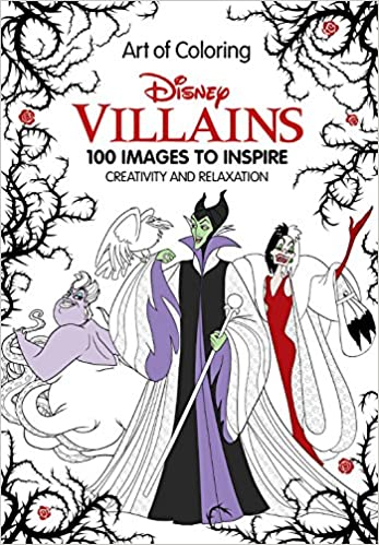 art of coloring disney villains 100 images to inspire creativity and relaxation disney book group 9781484780367 amazoncom books - Disney Villain Coloring Pages
