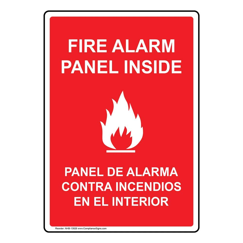 ComplianceSigns.com Glow-in-Dark Aluminum Fire Alarm Sign ...