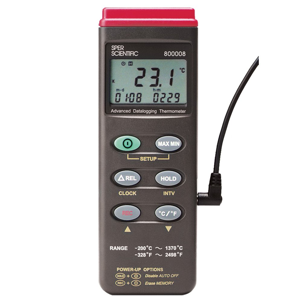 Sper Scientific 800008 Type K Thermocouple Thermometer with RS232 Output
