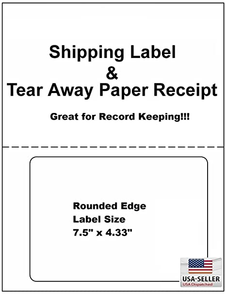 d1683a9e3a567 Click Ship PayPal / eBay USPS Labels with Paper Receipts for Laser /Ink Jet  Shipping! Built in Tear Off Receipts! (Integrated Labels) (200 Sheets)
