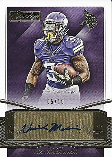 JERICK MCKINNON 2015 Donruss Signature Series Football ROOKIE AUTOGRAPH (Minnesota Vikings) Rare Gold Parallel Signed Insert NFL Collectible Football Trading Card #05/10 - Gold Nfl Signature Football
