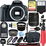 Canon EOS Rebel SL2 24MP DSLR Camera Body with Sigma 18-250mm Lens + 64GB Memory & Flash Bundle