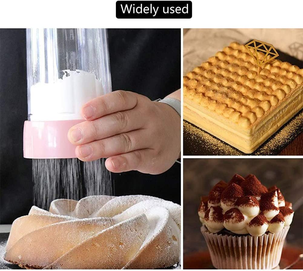Sandalas Sieve Cup Baking Shaker Flour Sifter Fine-Meshed Lid Flour Sieve for Baking Chocolate Powder Flour Spice