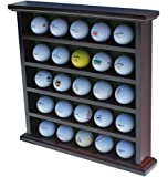 DisplayGifts Golf Ball Display Case Wall Cabinet, NO Door, GB25 (Mahogany)