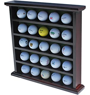 Amazon.com : 32 Golf Ball Solid Rosewood Display Cabinet by ...