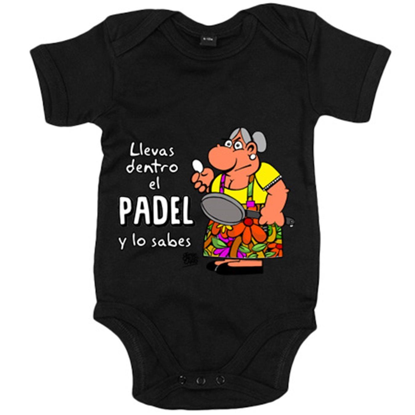 Body bebé Padel tenis Llevas dentro el padel y lo sabes - Amarillo, 6-12 meses: Amazon.es: Bebé