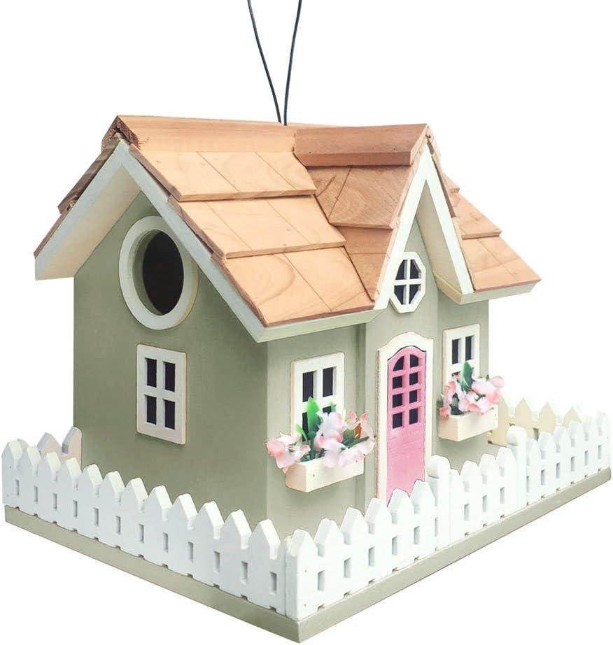 Home Bazaar HB-7603S Snug Harbor Cottage Birdhouse, Green