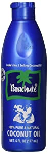 Parachute Coconut Oil 6 fl.oz. (177ml) - 100% Pure, Unrefined, Expeller Pressed