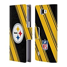 Official NFL Stripes 2017/18 Pittsburgh Steelers Leather Book Wallet Case Cover For LG V10