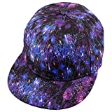 Samtree Unisex Snapback Hats,Adjustable Printed Hip Hop Flat Bill Baseball Cap (Galaxy)