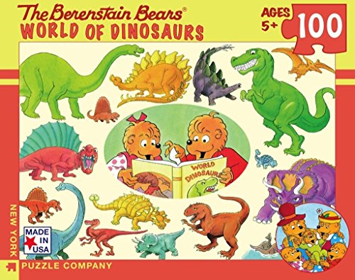 Dinosaur World Jigsaw Puzzle - New York Puzzle Company - Berenstain World of Dinosaurs - 100 Piece Jigsaw Puzzle