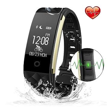 JoyGeek impermeable de la pulsera de desgaste Bluetooth inteligente con el monitor del ritmo cardíaco; podómetro, ...