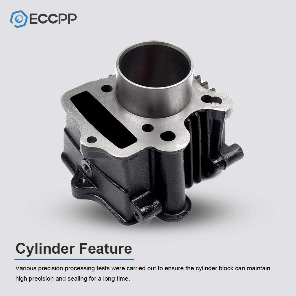 ECCPP New Cylinder Piston Ring Gasket for 1969-2008 Honda ATC70 XR70 Honda CT70 S65 Compatible fit for Piston Kit