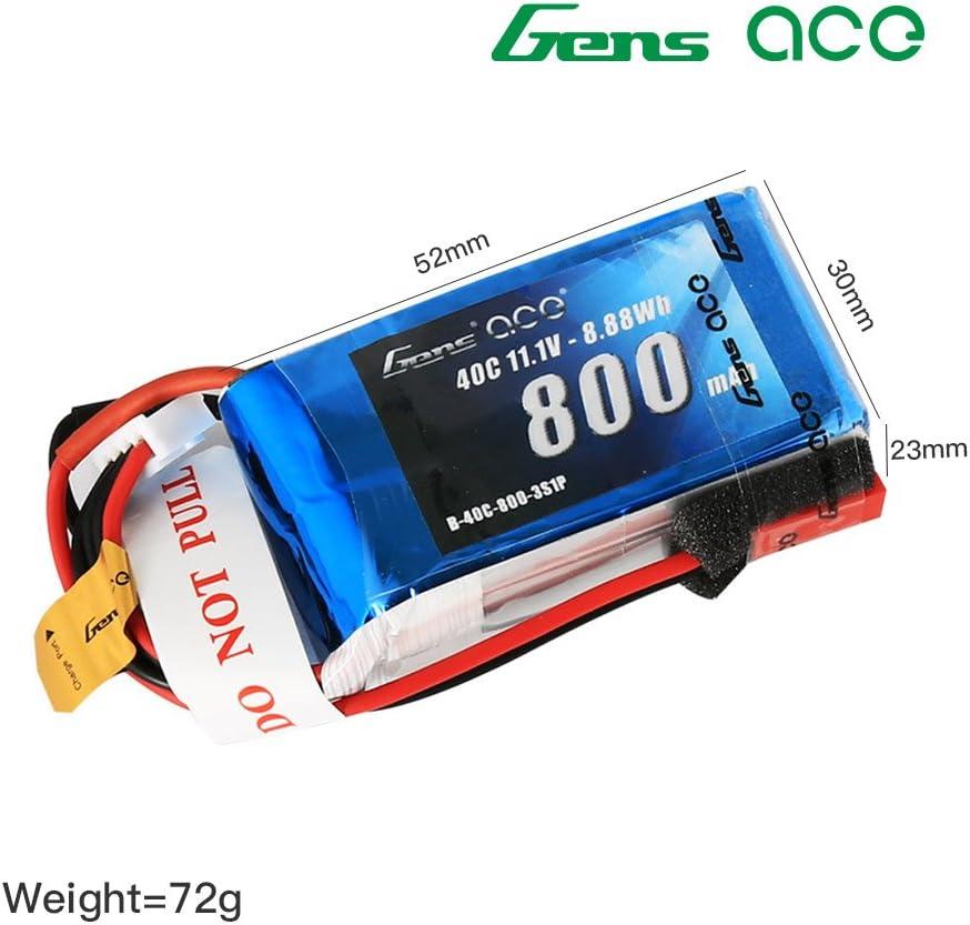 Gens Ace LiPo Batterie 3 S 11.1 V 6000 mAh 50 C Deans Plug GE3-6000-3D