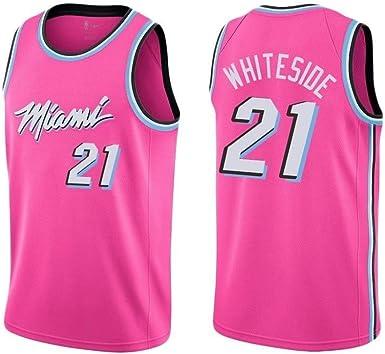 Camisa de Baloncesto for Hombre - Miami Heat No. 21 Chaleco ...