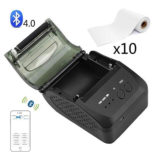 EJOYDUTY Impresora térmica inalámbrica de Recibos de Bluetooth ...