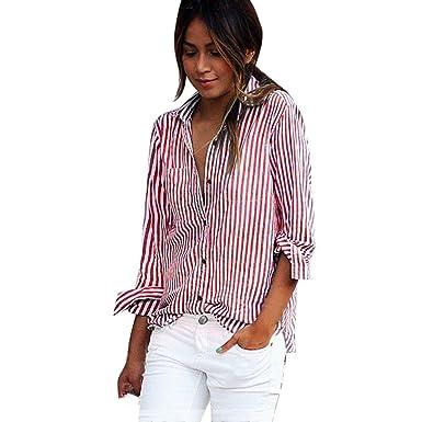 dc90d8a436 Long Sleeve Tops Womens, TOPUNDER Sexy Stripe Blouse Long Sleeve Shirt  Loose Shirts Tops