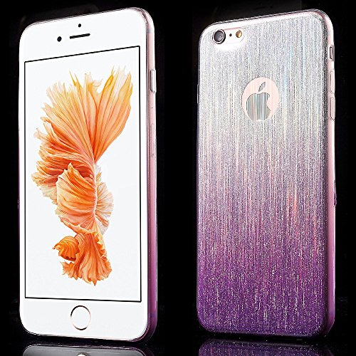 Apple iPhone 6/6S Étui Housse Case Gel/TPU Brushed Violet decui Violet/TPU Coque en gel