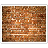 J.P. London POS2553 U-Strip Peel and Stick Brick Mortar Old School Removable Wall Decal Sticker Mural, 19.75-Inch by 24-Inch