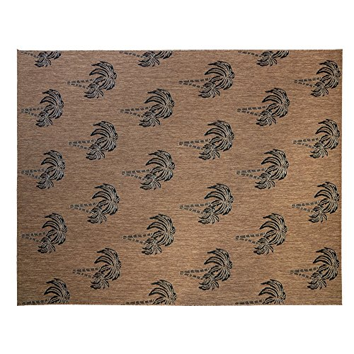 Gertmenian 21265 Nautical Tropical Outdoor Patio Rugs, 8x10 Large, Brown Palm Tree ()