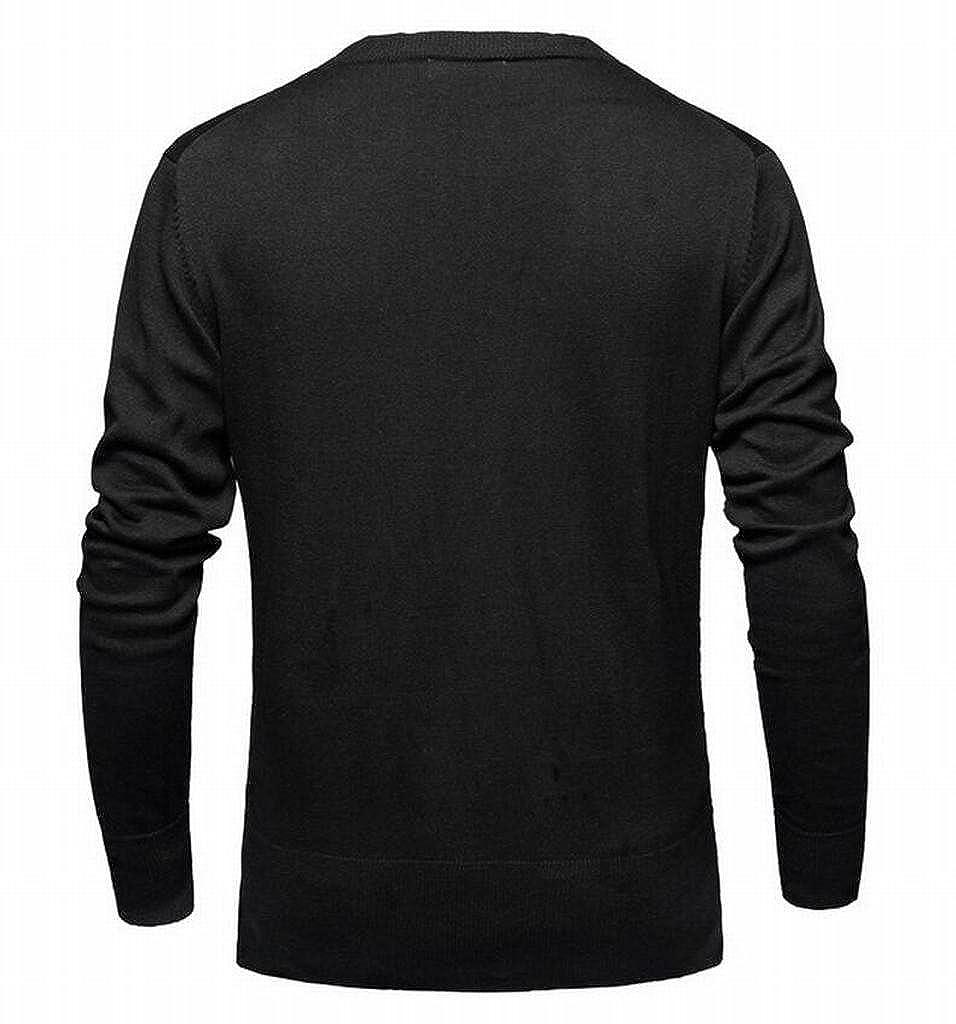 YYG Mens Deep V Neck Slim Fit Button Up Cardigan Knitwear