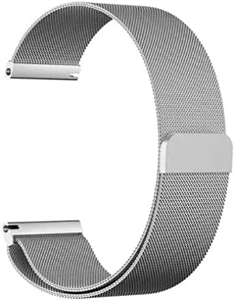 Milanese Loop for Huawei Talkband B3 and for Moto 360, 16mm silver color