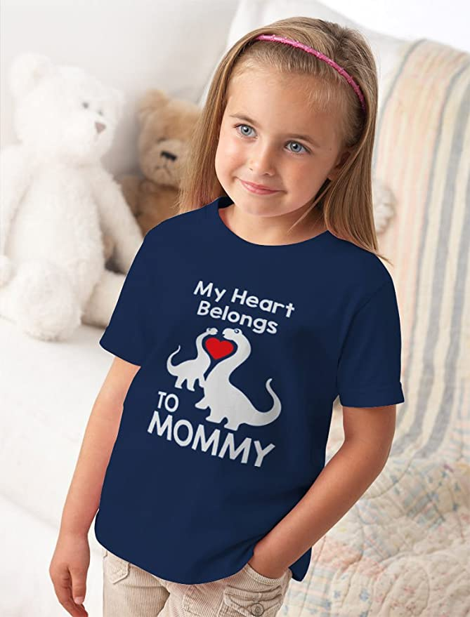 22358768 Amazon.com: My Heart Belongs to Mommy - Cute T-Rex Love Kids T-Shirt:  Clothing