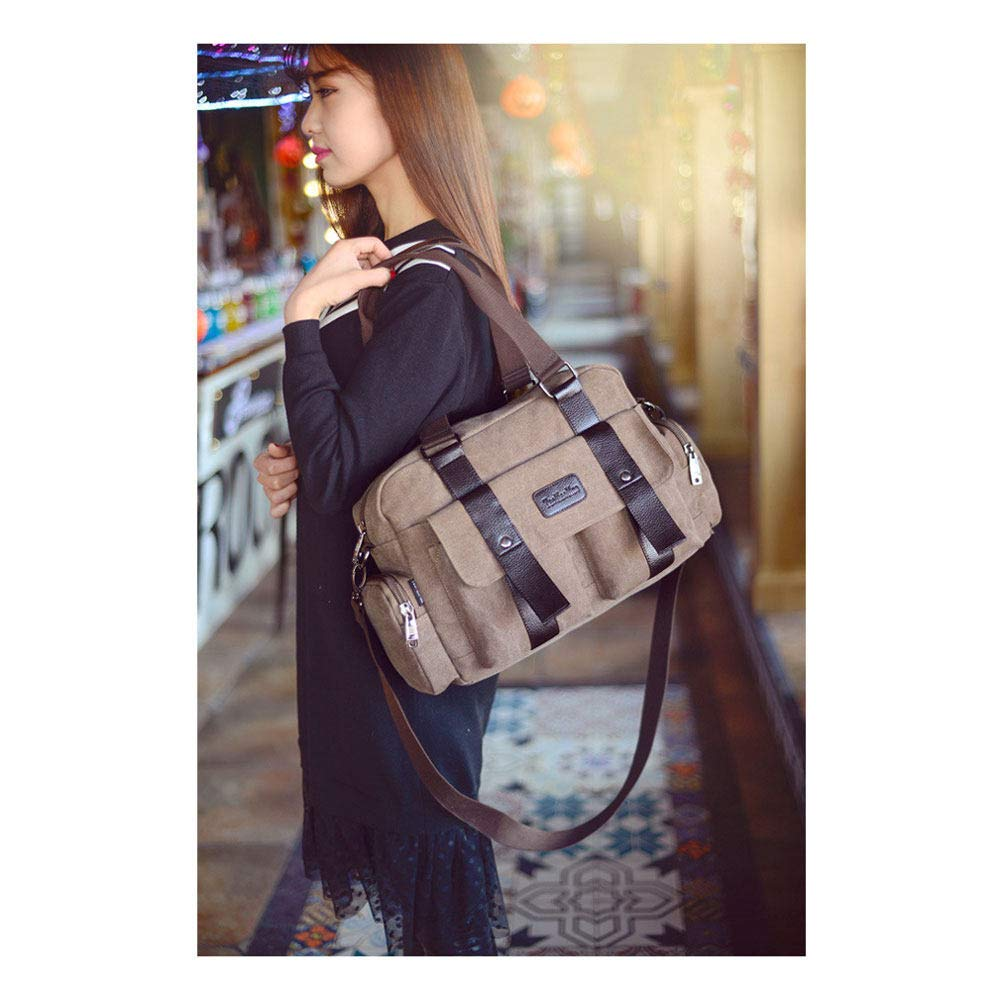 5e90798f3aa2 Amazon.com : Grtodnz Large Capacity Canvas Holdall Weekend Travel ...