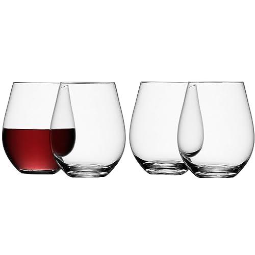 LSA International G887-19-991 530 ml Stemless Red Wine Glass, Transparent - (Pack of 4)