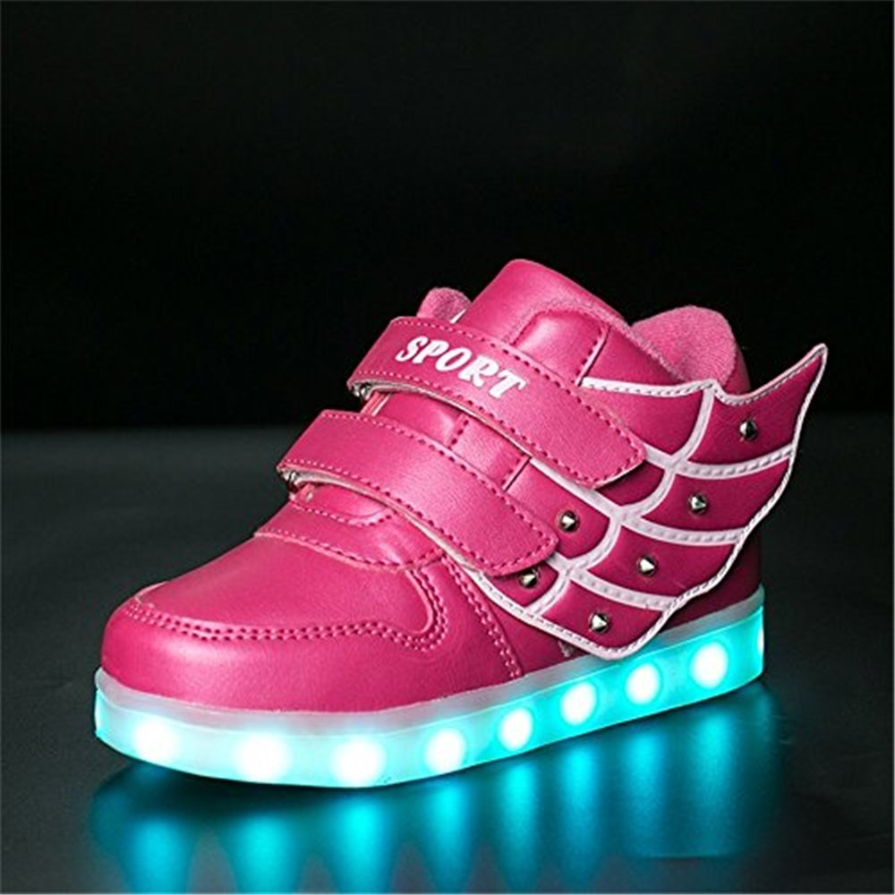 CHENSF LED Light Up Shoes Flashing Sneakers for Kids Boys Girls Wing Lights Shoes
