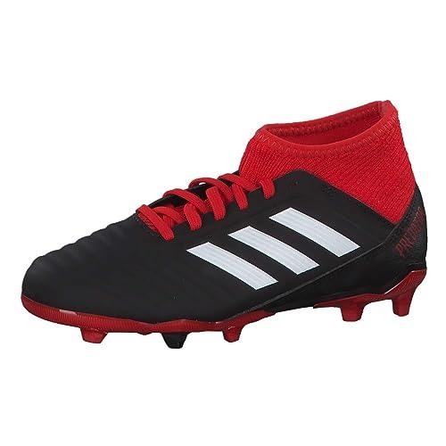 Adidas Predator 18.3 FG J, Botas de fútbol Unisex niño, Negro (Negbás/